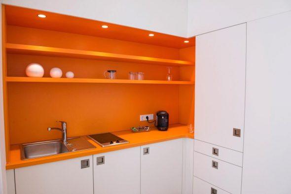 Оранжевое оформление рабочей зоны