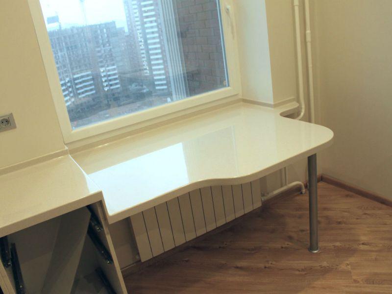 Как сделать стол из пластикового подоконника: пошаговая инструкция