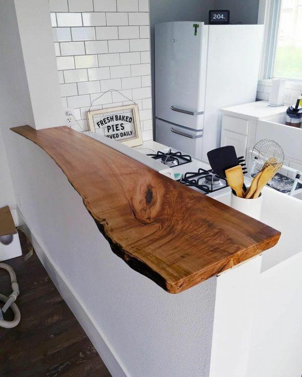 Барная столешница из спила дерева