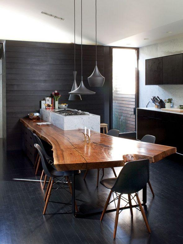 Кухонная столешница из спила дерева