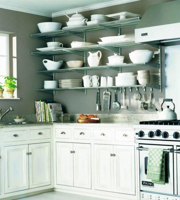 Как повесить полки на кухне