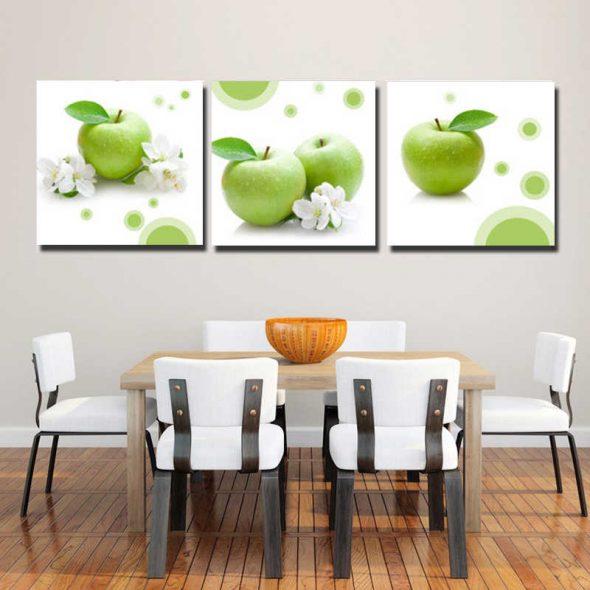 Зеленые яблоки на фото