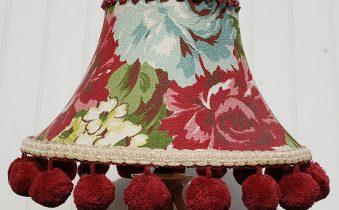 Декор абажура настольной лампы
