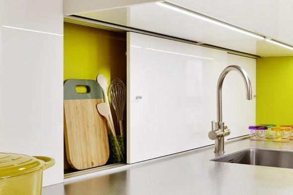Кухня с жёлтыми вставками