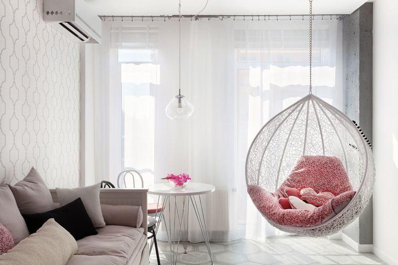 Подвесные кресла в интерьере: фотоподборка