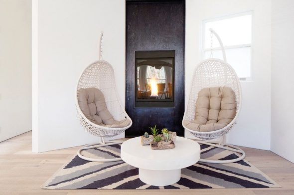 Подвесные кресла в интерьере