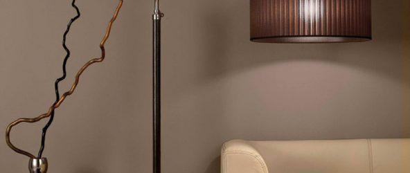 Напольный светильник в интерьере