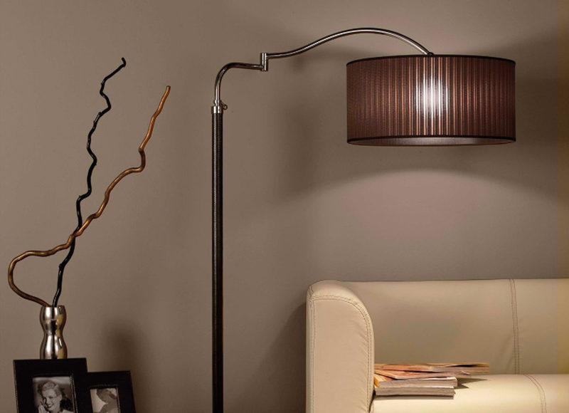 Напольные светильники в интерьере: подборка фото