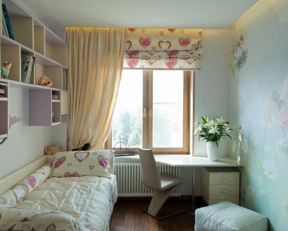 Дизайн детской комнаты 8 кв. м