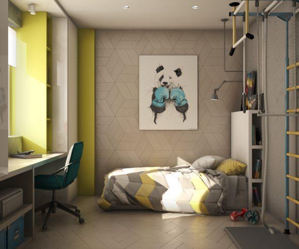 Проект детской комнаты 15 кв. м. для мальчика