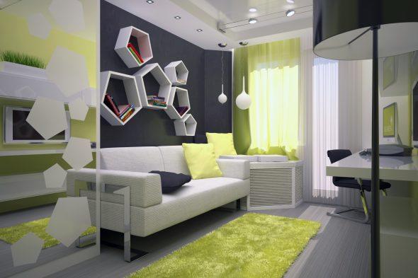 Современный дизайн комнаты для подростка 14 кв. м