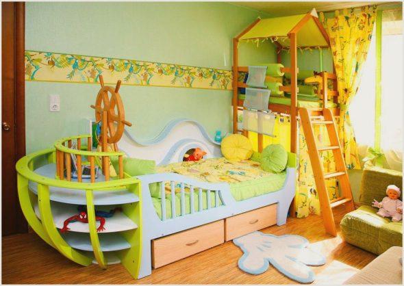 Детская кровать для мальчика в виде корабля