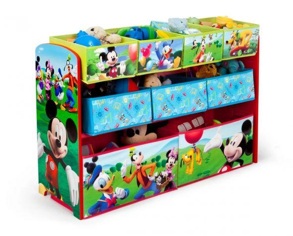 Стойка с коробками для игрушек