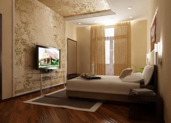 Прямоугольная комната с балконом