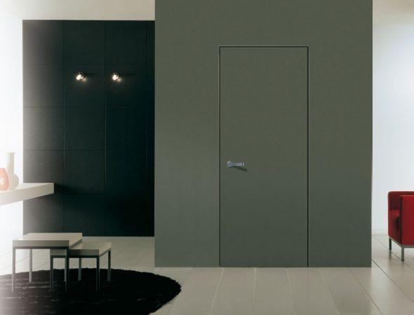 Дверь без наличников в минималистичном интерьере