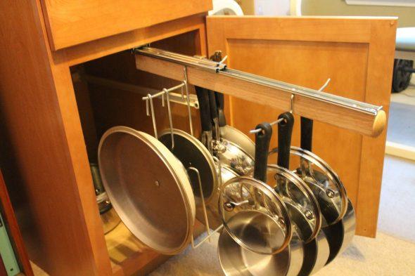 Хранение крышек посуды