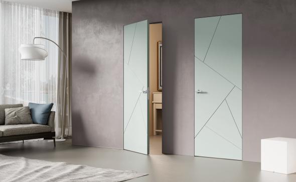 Двери без наличников с геометрическим узором