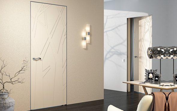 Рисунок на дверях