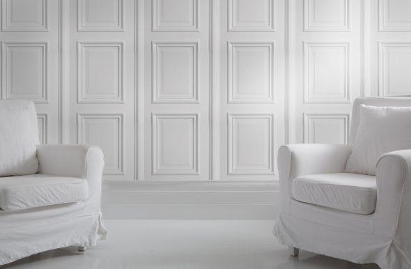 Декор стен молдингом