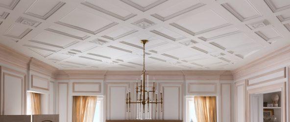 Потолок с кессонами