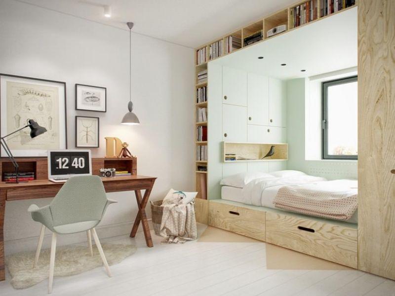 Мебель в подростковую спальню: интересные варианты расстановки на фото