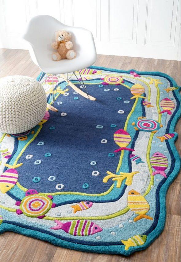 Детский ковёр в интерьере