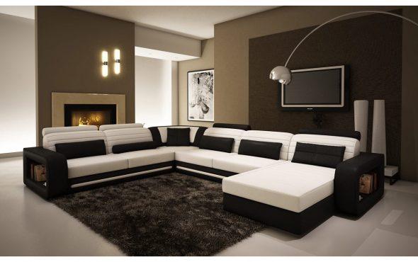П образный диван в интерьере