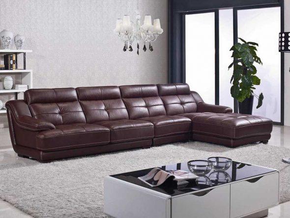 Угловой диван с подголовниками