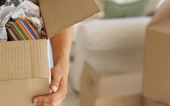 Коробка с вещами