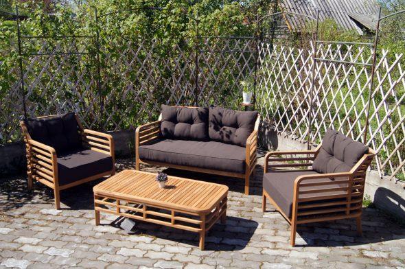 Комплект садовой мебели Azzura Colorado из древесины акации