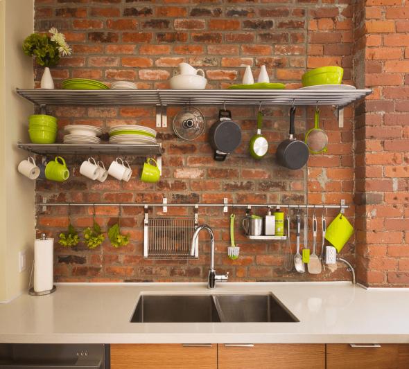Размещение посуды на кухне