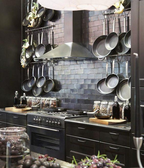 Размещение сковородок на кухне