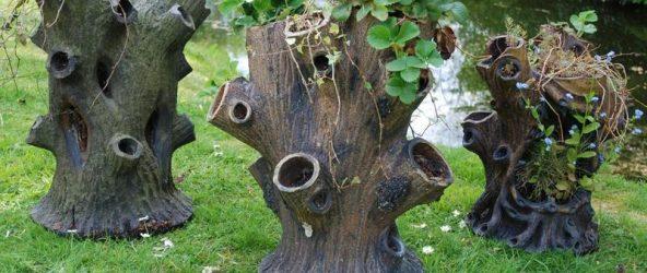 Декор для сада из пеньков