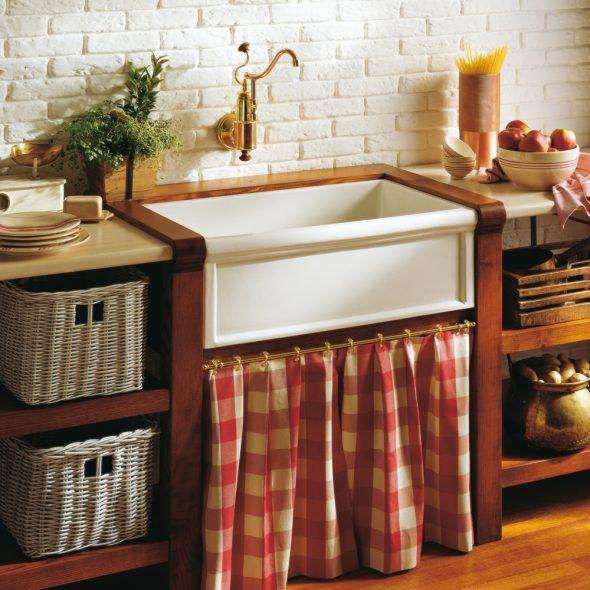 Кухонная мойка в стиле ретро