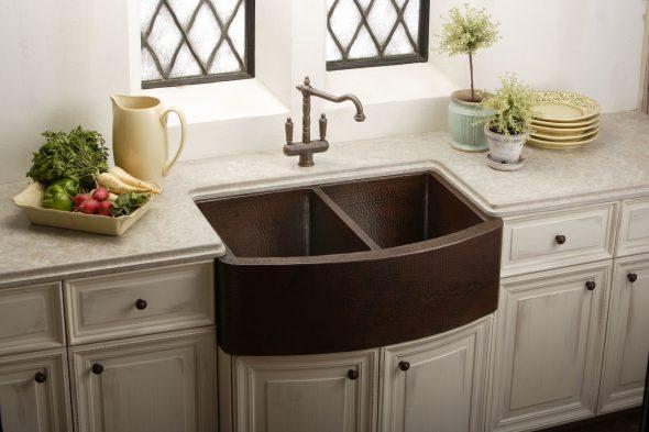 двойная раковина на кухню в ретро стиле