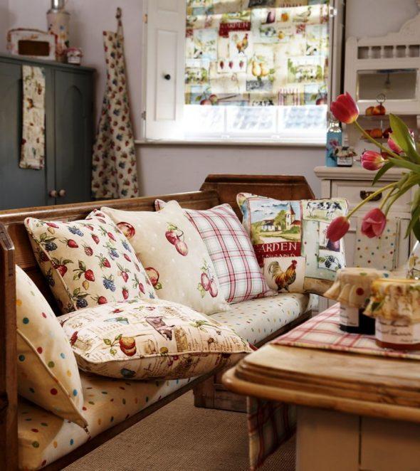 Текстиль для кухни в стиле Кантри