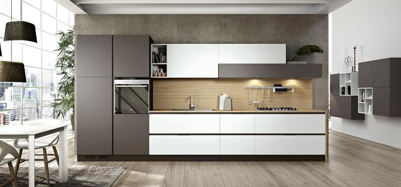 Кухня линейной планировки: фотоподборка интерьеров