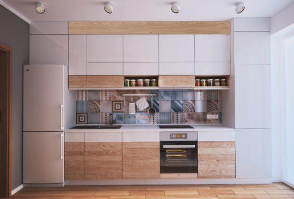 Кухня линейной планировки