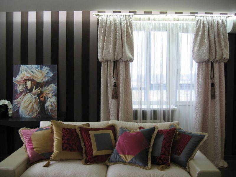 Как интересно повесить шторы: необычные варианты на фото