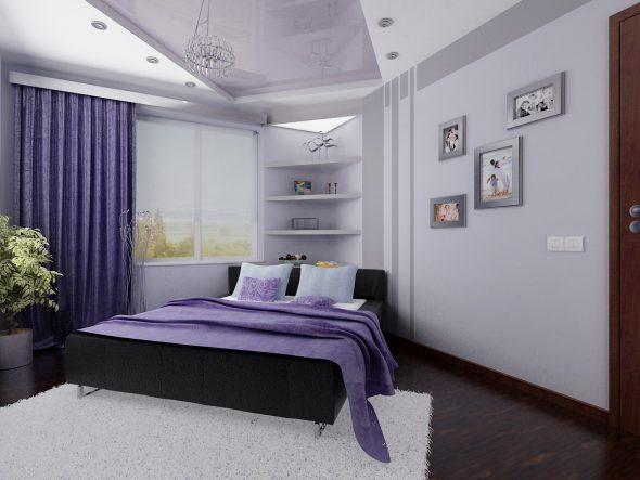 Диагональное размещение кровати