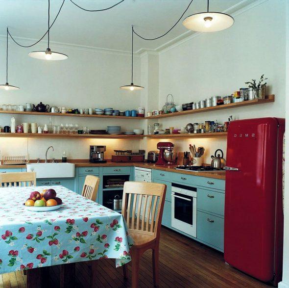 Хранение посуды на открытых полках