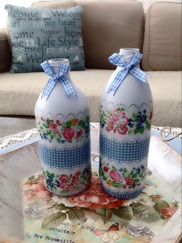 Бутылки с бантиками