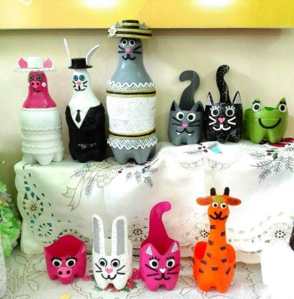 Животные из бутылок
