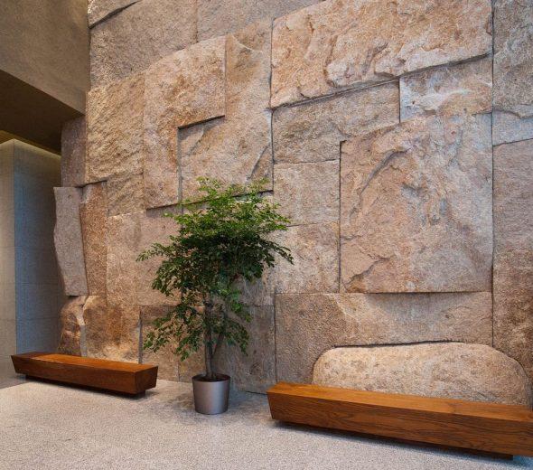 Плиты из натурального камня в интерьере