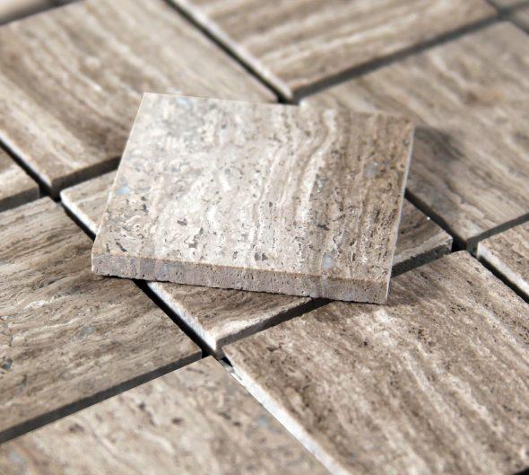 Квадратные каменные фрагменты для мозаики