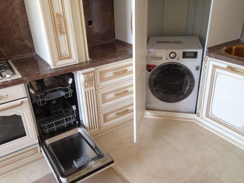 Стиральные машины на кухне: варианты удачного размещения