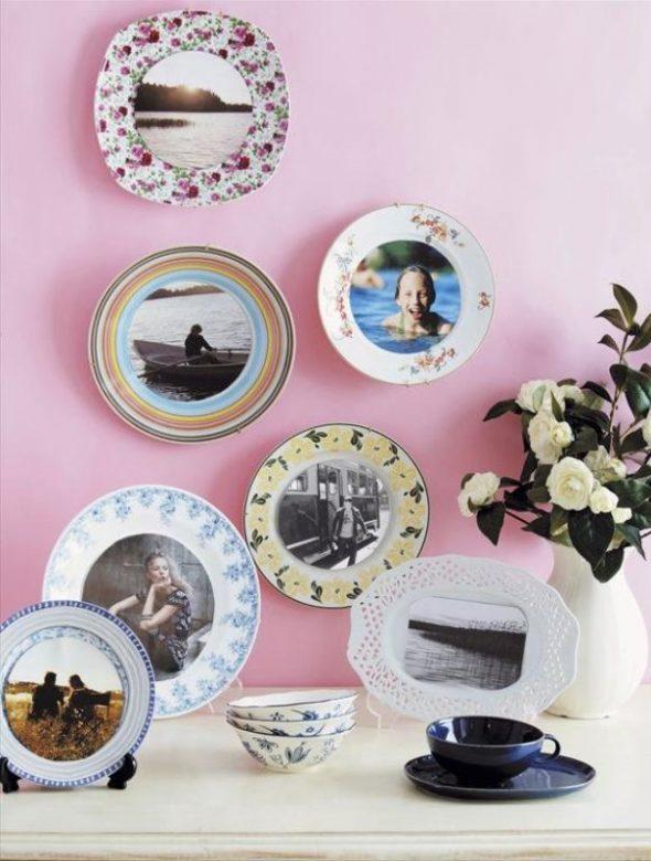 Декорированные тарелки с фотографиями