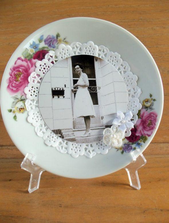 Декорированная тарелка с фото