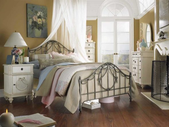 Винтажная спальня в стиле прованс