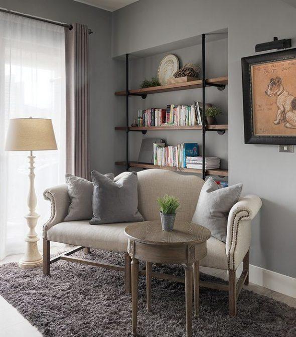 Винтажная мебель в небольшой квартире